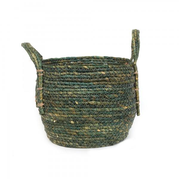 Korb 'Nonna' S, grüngrau, Ø 25 cm, H 22 cm