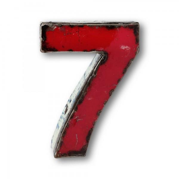 Metallziffer '7', multicolor, T 14 cm, B 20 cm, H 4 cm