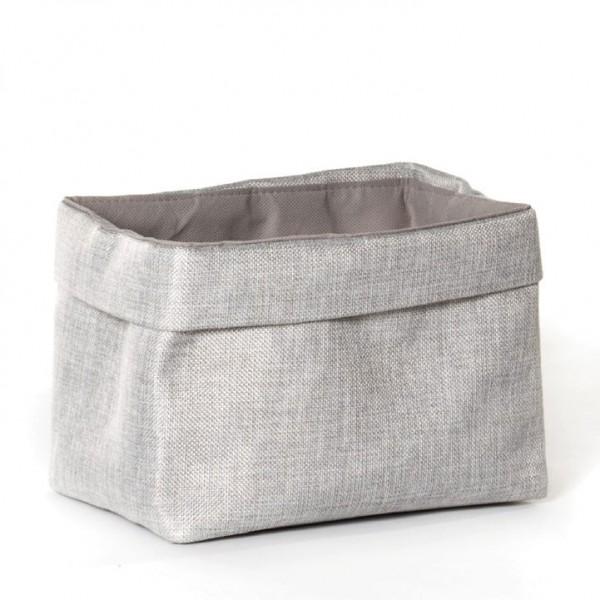 Korb 'Picardie', grau, L 20 cm, B 30 cm, H 20 cm