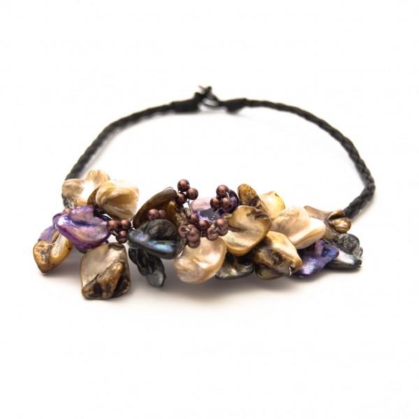 """Halskette """"Muschelblüte"""", multicolor"""