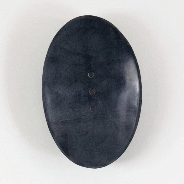 Seifenschale, anthrazit, L 9 cm, B 14 cm, H 2 cm