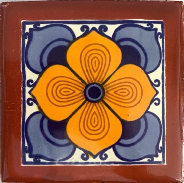 Kachel 'Morelia', multicolor, T 10 cm, B 10 cm, H 0,5 cm