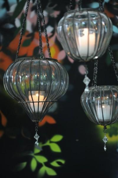 Teelichthalter, hängend, Ø 12 cm, H 20 cm