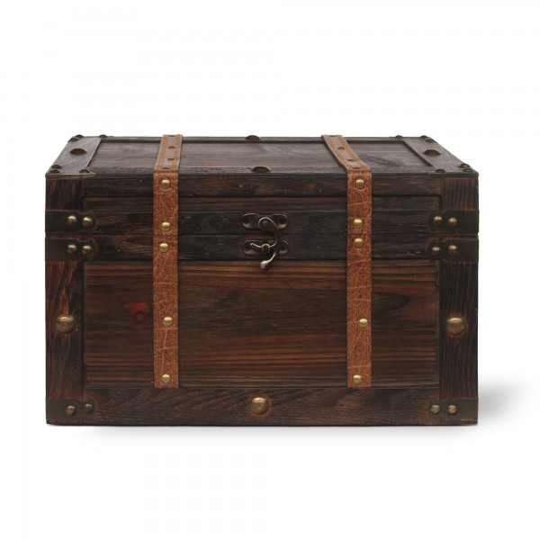 Koffertruhe 'Irima' L, braun, T 34 cm, B 21 cm, H 20 cm