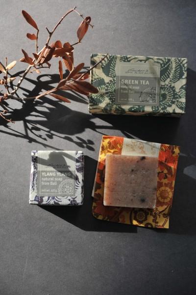 Naturseife 'Grüner Tee', 100 g, aus 100% natürlichen Inhaltsstoffen