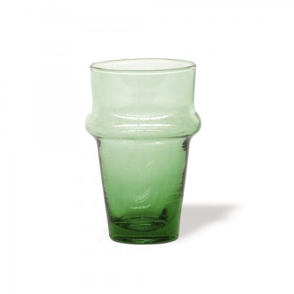 Glasreihe 'Beldi' Glas, grün, Ø 6 cm, H 10,5 cm