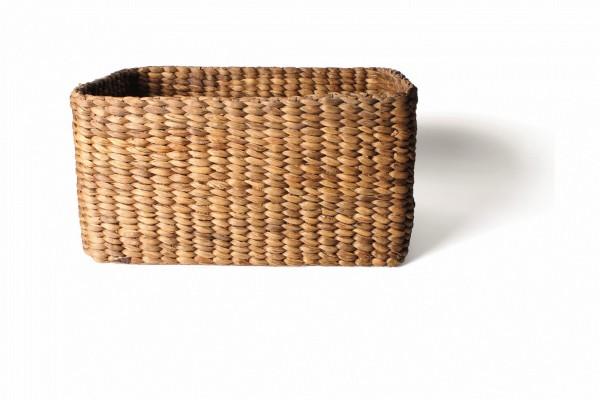 """Korb """"L"""" mit Griffloch grob geflochten, natur, L 43 cm, B 26 cm, H 23 cm"""