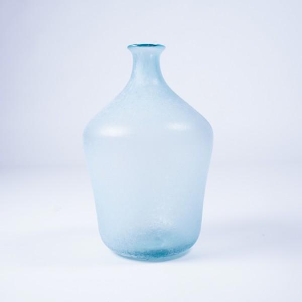 Glasvase recycled, blau, Ø 23 cm, H 37 cm