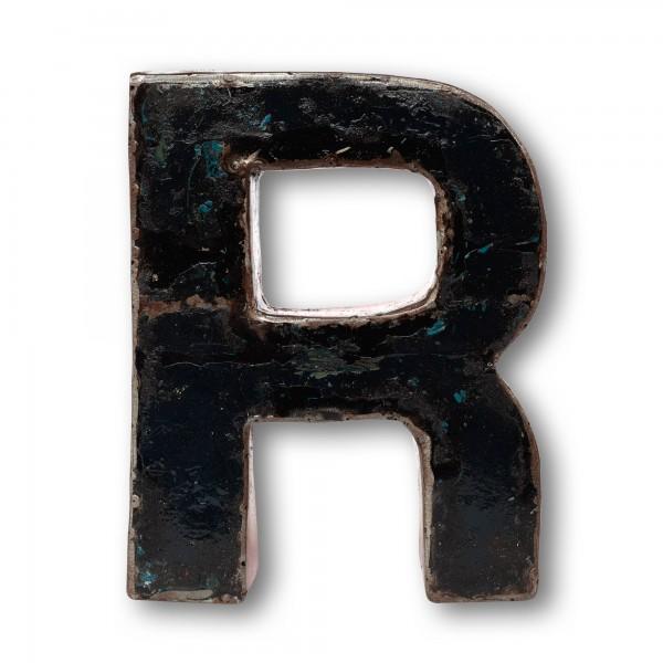 Metallbuchstabe 'R', multicolor, T 16 cm, B 20 cm, H 4 cm