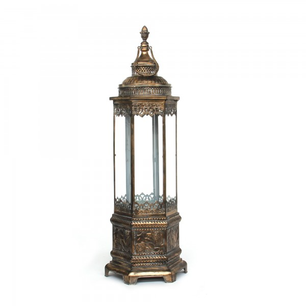 Laterne 'Mindton' L, bronze, T 40 cm, B 44 cm, H 135 cm