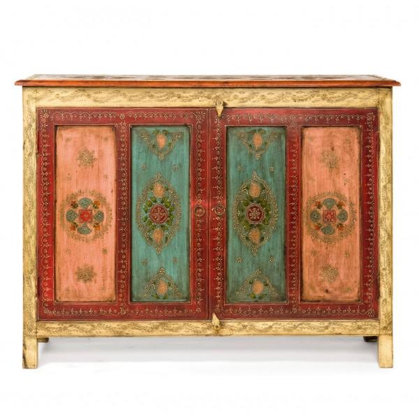 Sideboard mit Mehndi-Malerei, L 45 cm, B 120 cm, H 91 cm