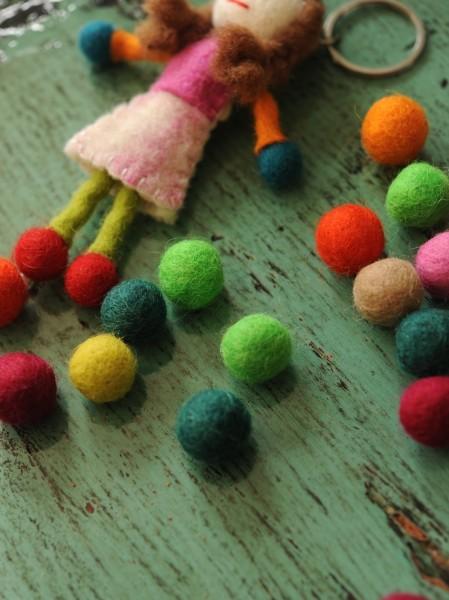 Filz-Ponpons, multicolor, Ø 20 mm