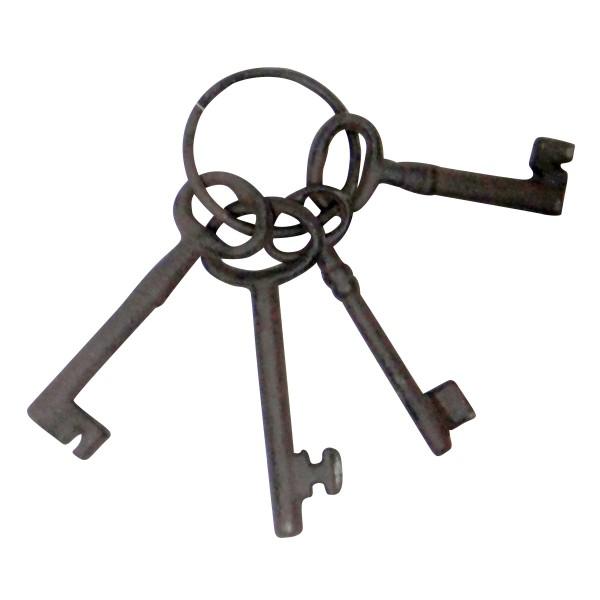 Deko-Schlüsselring, antik-braun
