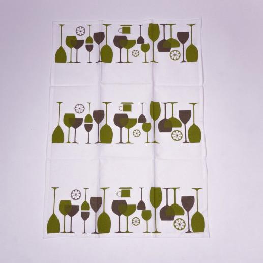 """Geschirrtuch """"Glasses"""", aus 100% Baumwolle, L 70 cm, B 50 cm"""