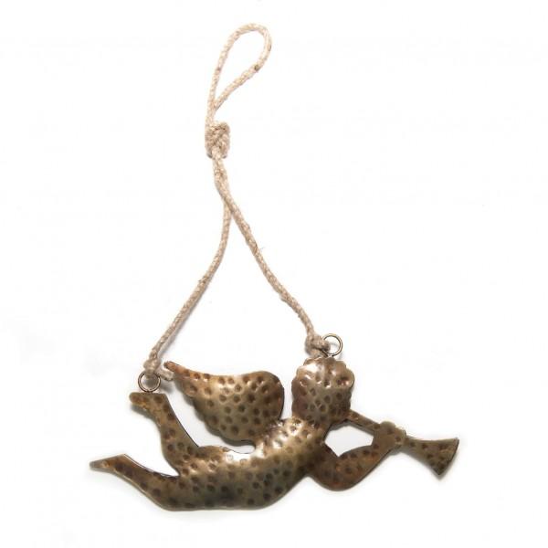 """Baumanhänger """"Trompeter"""" aus Metall S, gold, B 14 cm"""