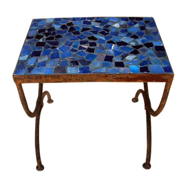 "Mosaiktisch ""Tesson bleu"", blau, L 30 cm, B 40 cm, H 37 cm"