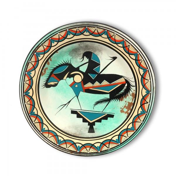 Wandteller 'Vaquero' handbemalt, multicolor, Ø 39 cm, H 3,5 cm