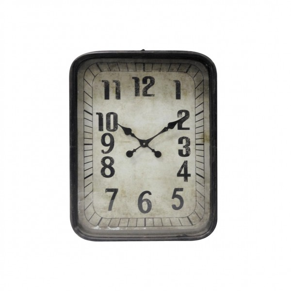 "Wanduhr ""Gare du Nord"" aus Metall, B 46 cm, H 62 cm"