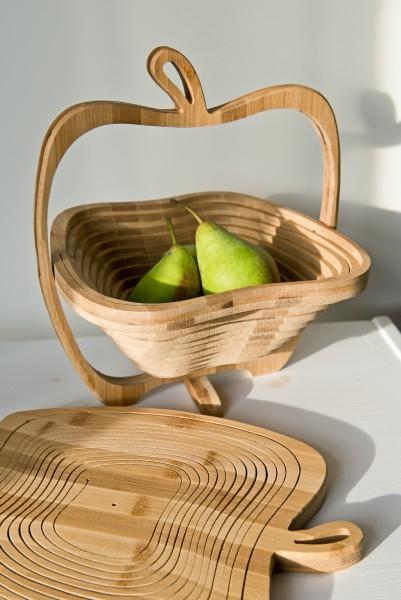 Fruchtkorb 'Apfel', H 2 cm, B 30 cm, T 27 cm