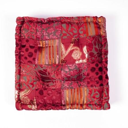 """Sitzkissen """"Patch"""", rot, L 40 cm, B 40 cm, H 10 cm"""
