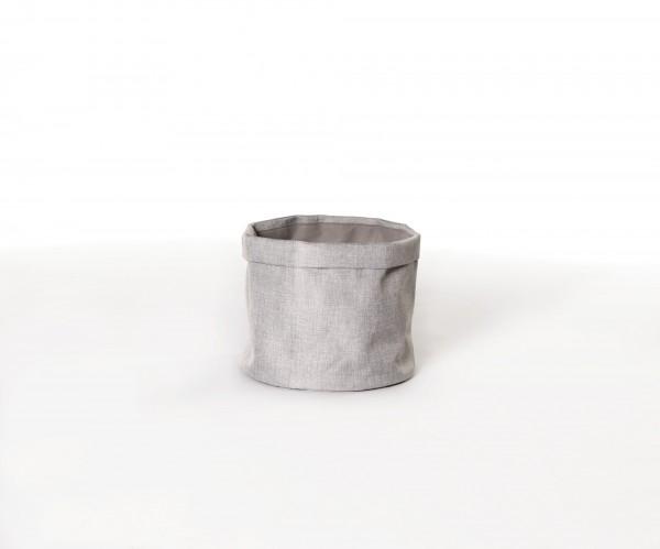 """Box """"Picardie"""" rund, grau, Ø 25 cm, H 20 cm"""