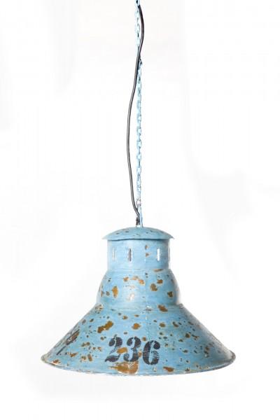 Leuchte '1934', aus Metall, blau, Ø 41 cm, H 31 cm