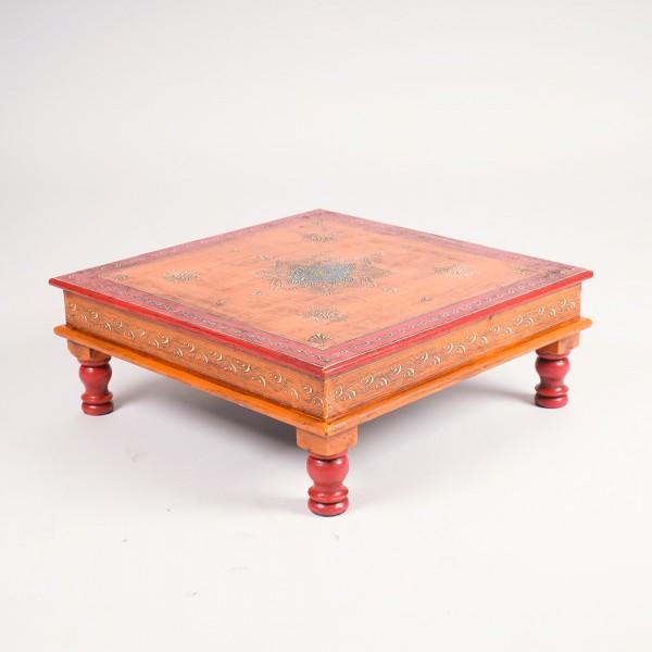 "Teetisch ""Bajot"", rot/orange, L 44 cm, B 44 cm, H 16 cm"