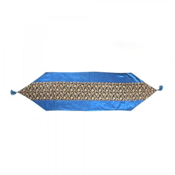 """Tischläufer """"Shrub"""", blau/schwarz, L 150 cm, B 40 cm"""