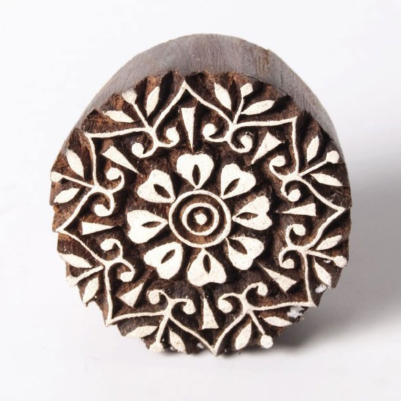 Traditioneller Holzstempel 'Modell A', handgeschnitzt