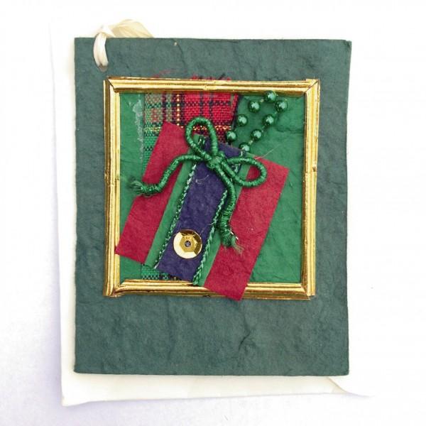 Geschenkkarte, grün, H 7,5 cm, B 6 cm