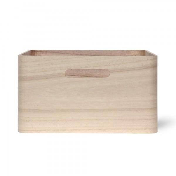Holzkasten 'Birkir' 5/9, hellbraun, T 23 cm, B 23 cm, H 11 cm