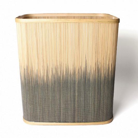 Wäschekorb aus Bambus M, natur/braun, L 27 cm, B 37 cm, H 39 cm