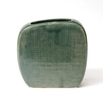 Vase 'Ovidio', grün, L 5 cm, B 20 cm, H 20 cm