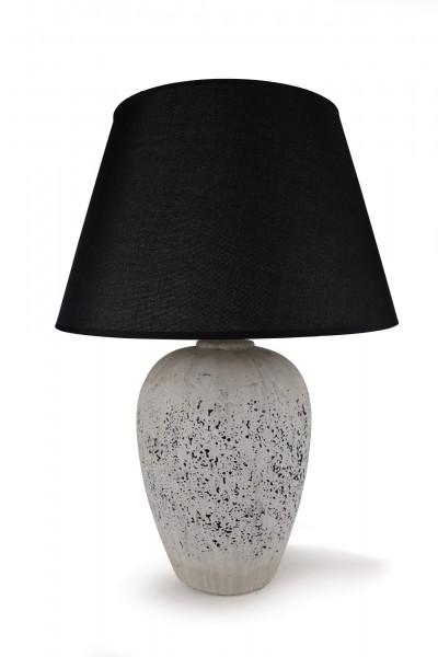 Tischlampe 'Bendern', schwarz, weiß, Ø 33 cm, H 40 cm