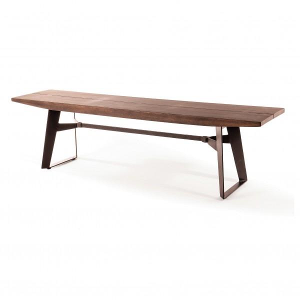Sitzbank 'Luana' dunkel, natur, T 38 cm, B 170 cm, H 45 cm