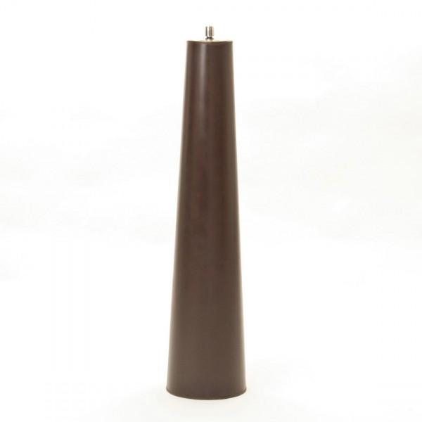 Kupferfackel mit Edelstahlaufsatz, antik-braun, H 105 cm, Ø 20 cm