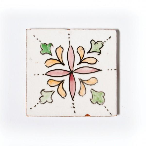 """Fliese """"fleur rose"""", multicolor, L 10 cm, B 10 cm, H 1cm"""