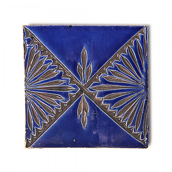 "Fliese ""losange royale"", blau, L 10 cm, B 10 cm, H 1 cm"