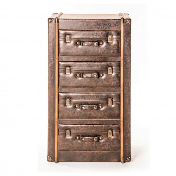 "Kommode ""Luggage"", braun, T 38 cm, B 57 cm, H 97 cm"