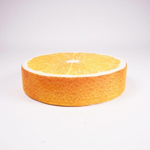 """Sitzkissen """"Orange"""", orange, Ø 50 cm, H 12,5 cm"""