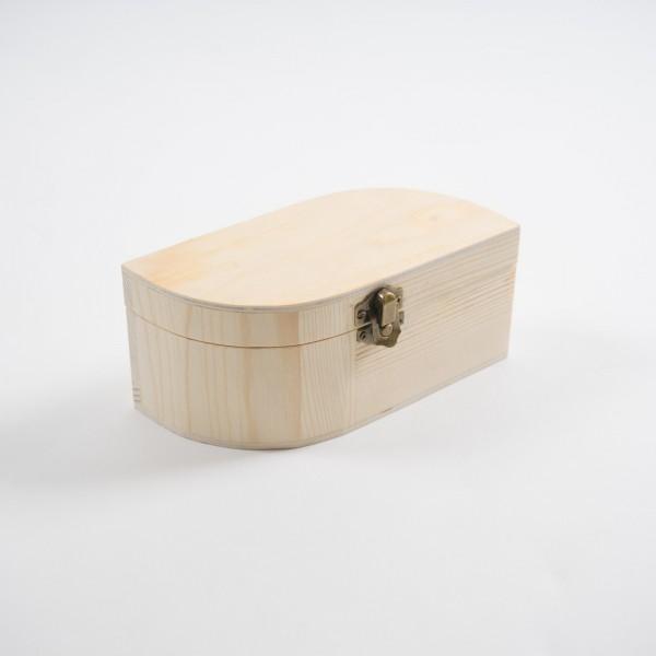 """Holzbox """"Tropfen"""", natur, L 8 cm, B 17 cm, H 8 cm"""