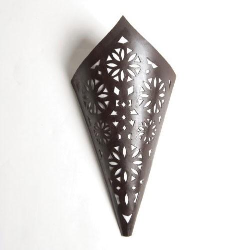 Orientalischer Wandleuchtenschirm 'Cornet', T 10 cm, B 20 cm, H 43 cm