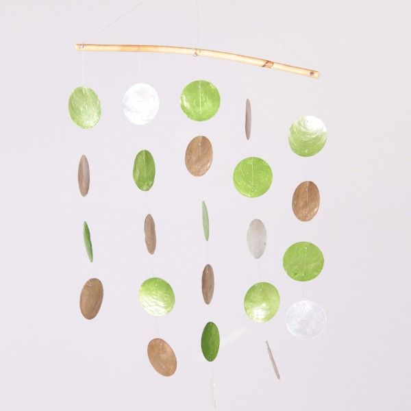 Windspiel aus Bali, braun/grün, B 37 cm, H 46 cm