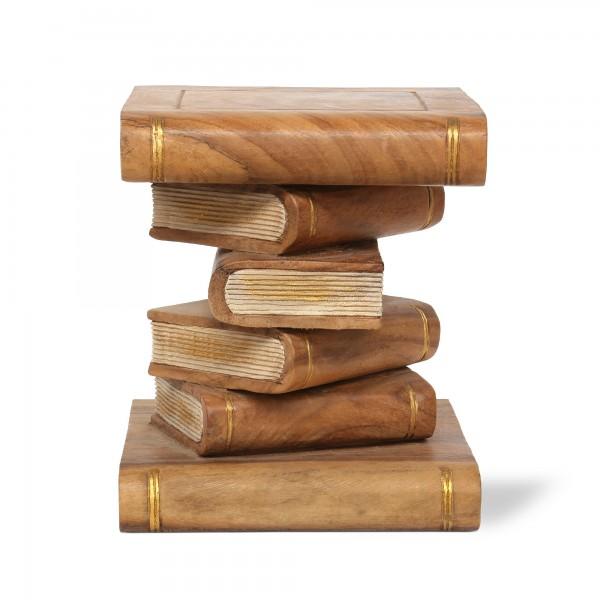 Bücherstapel, dunkelbraun, T 35 cm, B 35 cm, H 38 cm