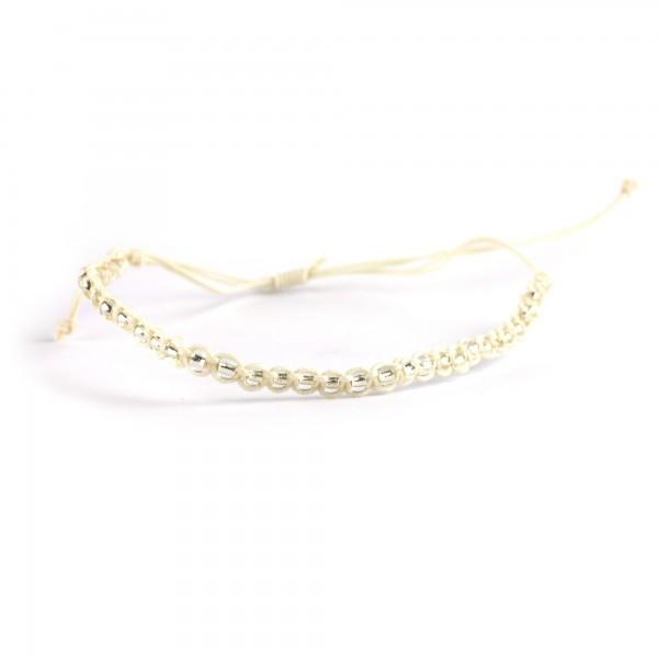 Armband 'Caleb', weiß, T 4,5 cm, B 4,5 cm