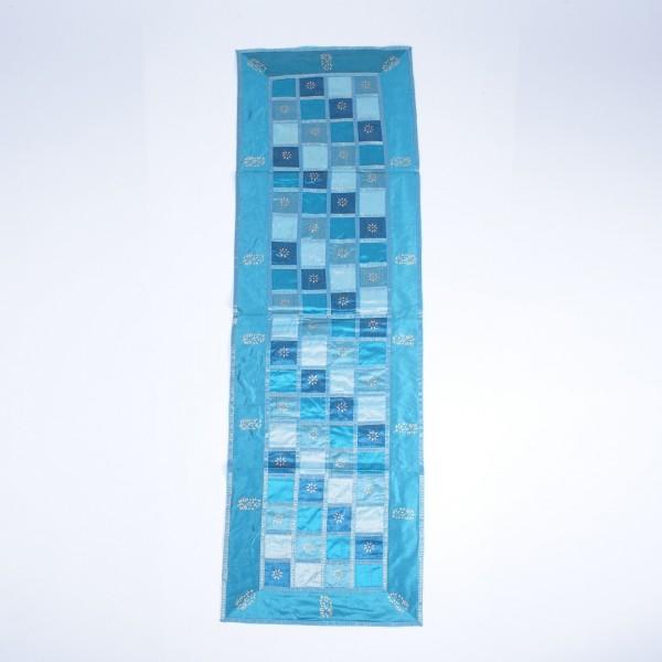 """Tischläufer """"Chess"""", türkis, L 150 cm, B 40 cm"""