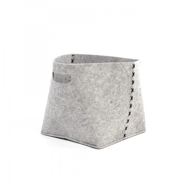 "Korb ""Brill S"", aus Filz, grau, L 20 cm, B 28 cm, H 25 cm"