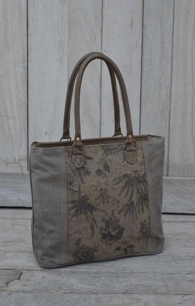 """Umhängetasche """"Blumenmuster"""", beige/braun, B 44 cm, H 32 cm"""