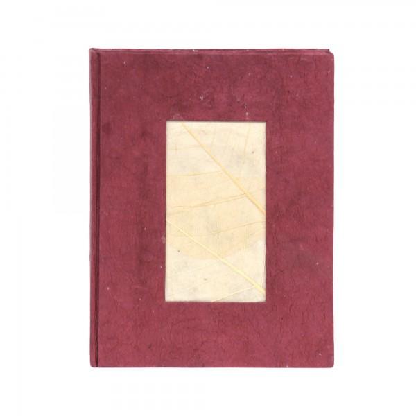 Notizbuch, rotbraun, T 15 cm, B 11 cm, H 1,5 cm