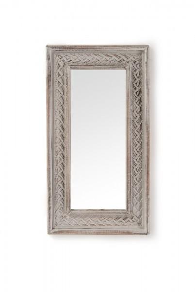Spiegel 'Geflecht', natur, weiß, T 4 cm, B 35 cm, H 62 cm